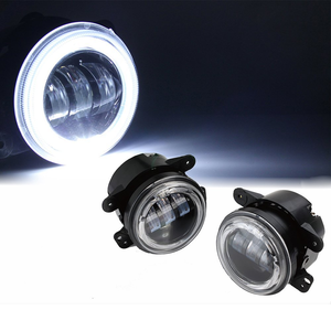 Xprite 4-Inch 60W CREE LED Fog Lights White Halo Ring For Jeep Wrangler JK TJ LJ On Amazon