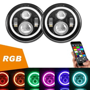 LED Jeep Headlights With RGB Halo Angel Eye For Jeep Wrangler JK TJ LJ CJ 1997-2018 On Amazon