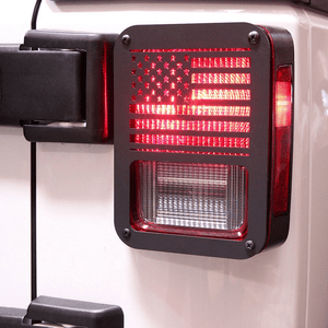 Xprite American US Flag Tail Light Cover Guards For 2007-2018 Jeep Wrangler JK Unlimited On Amazon