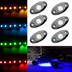 Jeep Wrangler LED Rock Light Kits With 6 Pod LED For Interior And Exterior Off Road On Amazon