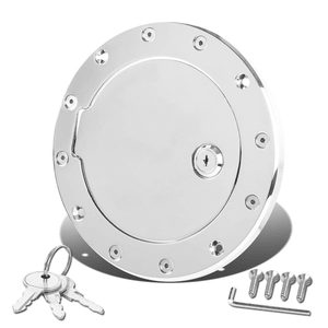 Jeep Wrangler TJ/LJ Fuel Gas Tank Door with Lock & Keys (Chrome)