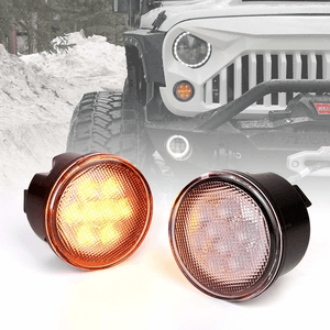 LED Turn Signal Lights Amber Clear Lens Front For 2007-2018 Jeep Wrangler JK And Unlimited On Amazon