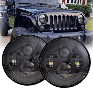 7-Inch Jeep LED Headlights With CREE LEDs For Jeep Wrangler JK TJ LJ CJ Models On Amazon