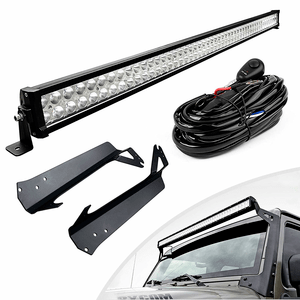 Jeep Wrangler JK TJ YJ 300 Watt 52-Inch Light Bar With Mounting Brackets On Amazon