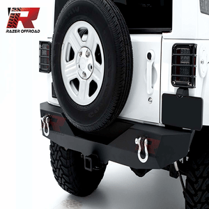 Razer Auto Rock Crawler Jeep Wrangler JK Rear Bumper With Two 4.75 Ton With D-Rings On Amazon