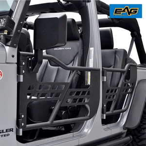 EAG 07-18 Jeep Wrangler JK Safari Half Doors With Mirror (4 Door Only)