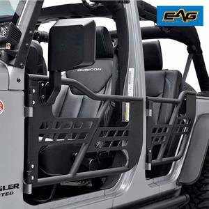 EAG 07-18 Jeep Wrangler JK Safari Tubular Doors With Mirror (4 Door Only) On Amazon