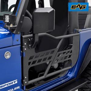 EAG 07-18 Jeep Wrangler JK (2 Door Only) Safari Tubular Doors With Side Mirrors On Amazon