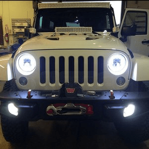 Jeep Wrangler LED Headlights With Daytime Running Lights by SuiTech