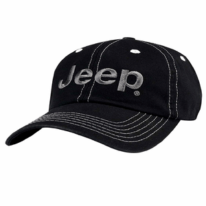 Jeep Wrangler Black Cap With 3D Embroidered Jeep On Frayed Twill Applique On Amazon