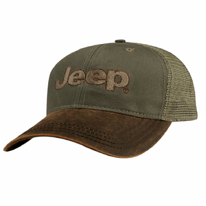Jeep Hat With Brown Heavy Stone Washed Waxcloth Embroidered Jeep Logo On Amazon