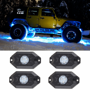 Jeep Wrangler RGB LED Rock Light Kits With Phone App & Cell Phone And Music Control Mode On Amazon
