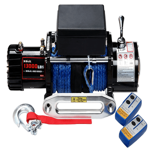 X-BULL 13000 lb. 12V Jeep Electric Winch With Waterproof Synthetic Rope