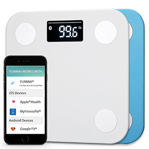 Yunmai Bluetooth Smart Body Fat Scale and Body Composition monitor with Free Fitness App