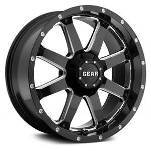 Gear Alloy 726MB Big Block Jeep Wheel With Milled Finish On Amazon