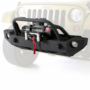 Heavy-Duty Smittybilt 76744 SRC Carbine Jeep Front Winch Bumper For 2007-2018 Jeep Wrangler JK On Amazon