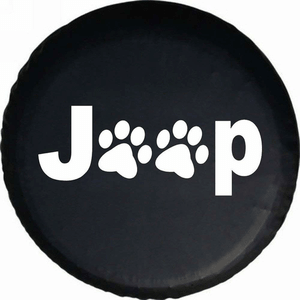 Jeep Wrangler Cat Paw Print Spare Tire Cover Available For Multiple Size Tires On Amazon