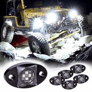 Jeep Wrangler 6pc Stardust SDRL14 4x4 4WD Offroad RGB LED Rock Light Kit - Cold White On Amazon