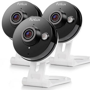 Funlux 3 Pack Wireless IP Security Camera System with Infrared Night Vision