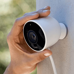 Nest Cam Outdoor Security Camera, Works with Amazon Alexa
