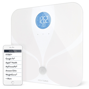 Weight Gurus Wifi Smart Connected Body Fat Scale with Backlit LCD
