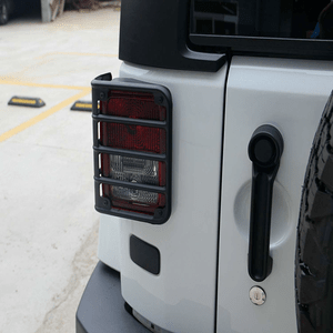 Jeep Wrangler Matte Black Rear Tail Light Guard Cover Protector Fits Jeep JK Models On Amazon