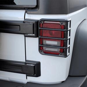 Xprite 2007 - 2018 Jeep Wrangler JK Unlimited Matte Black Light Guard For Rear Tail Lights On Amazon