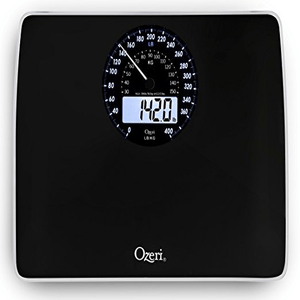Ozeri Rev Digital Bathroom Scale in Black