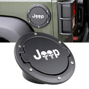 Fuel Filler Door Cover Gas Tank Cap for 2007-2017 Jeep Wrangler