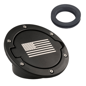 Black US American Flag Gas Cap Gas Tank Cover for 2007-2018 Jeep JK Wrangler On Amazon