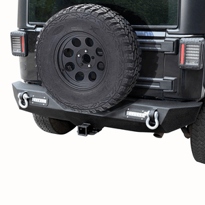 Jeep Wrangler Rear Bumper For Unlimited JK 07-18 With LED Lights & Hitch Receiver US On Amazon