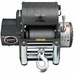 VIPER Jeep Winch 12000 lb., Steel Cable, Wireless Remote, Integrated Contactor On Amazon