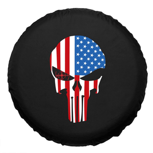 American Flag Punisher Skull Spare Jeep Wrangler Tire Cover In Multiple Sizes On Amazon