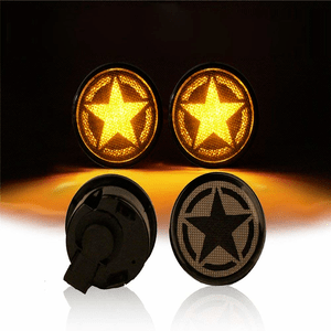 Star Logo Turn Signal Lights LED Smoke Lens Flasher For 2007-2018 Jeep Wrangler JK Models On Amazon