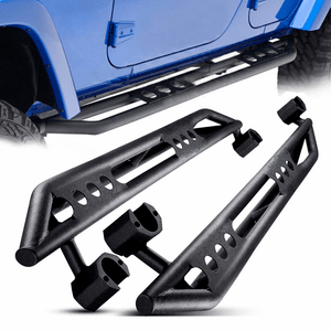 Black Textured Jeep Wrangler JK & JK Unlimited 4-Door Side Steps Nerf Bars Rock Rails On Amazon