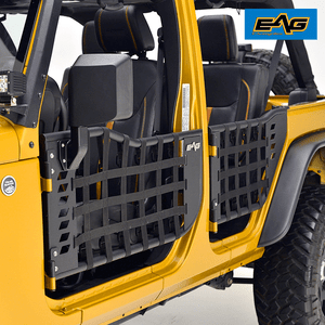 EAG Matrix Half Door for 07-18 Jeep Wrangler JK (4 Door Only) (With Mirrors)