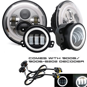 Combo Pack Jeep Wrangler LED Headlights Plus LED Jeep Wrangler Foglights By TURBO SII