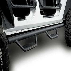 Jeep JK 4-Door Side Steps Wide Drop Nerf Bars Solid Steel for 2007-2018 Wrangler JK On Amazon