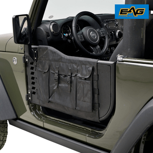 Jeep Wrangler JK Half Doors With Cargo Storage Bags And Sideview Mirrors