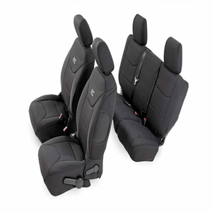 Black Neoprene Seat Covers (Front/Rear) For Jeep Wrangler JK By Rough Country On Amazon