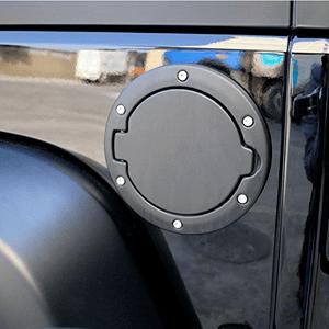 Black Jeep Fuel Filler Door Cover Gas Tank Cap for Jeep Wrangler JK JKU 2007-2018 On Amazon