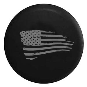 Waving American Tattered Flag Spare Jeep Wrangler Tire Cover In Multiple Sizes On Amazon