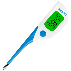 Digital Oral Thermometer by SANPU with Fast 8 Seconds Reading