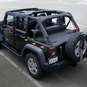 Reversible Jeep Cargo Cover For Jeep Wrangler Unlimited 2007-2018 4DR Models On Amazon