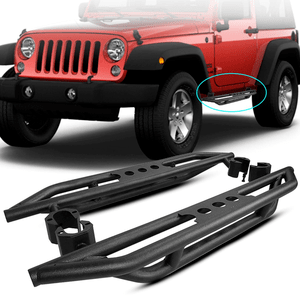 Jeep Wrangler JK 2-Door Side Steps 2007-2018 With Black Powder Coating Finish Step Boards On Amazon