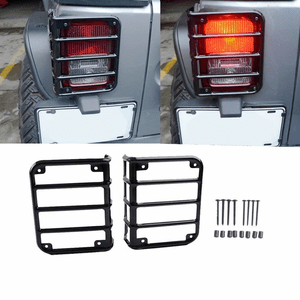 Jeep Wrangler Rear Tail Light Guard Covers For JK 2007-2018 Models By MAIKER On Amazon
