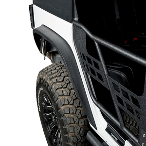 Hooke Road Steel Front & Rear Flat Jeep Wrangler JK Fender Flares With Lights