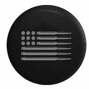 Jeep Tire Cover AR15 Rifle American Flag Military Hunting In Multiple Sizes On Amazon