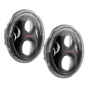 JW Speaker 8700 Evolution J2 LED Headlights in Black or Chrome for Jeep Wranglers On Amazon