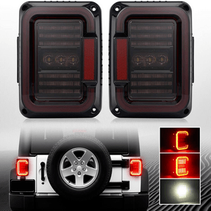 Jeep LED Tail Lights Assembly Brake Turn Stop Reverse DRL Light Lamp On Amazon